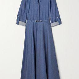 Gabriela Hearst - Marley Belted Cotton-chambray Shirt Dress - Blue | Net-a-Porter (US)