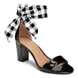 Aerosoles Women's Sandals BLACK - Black Gingham-Tie Bird Of Paradise Sandal - Women | Zulily