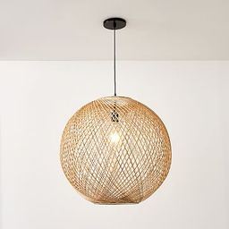 Wicker Globe Pendant | West Elm (US)