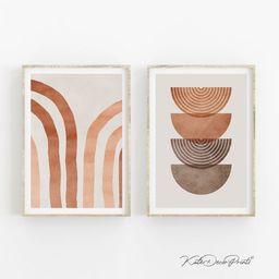Abstract Prints Printable Wall Art Set Of 2 Prints Geometric | Etsy | Etsy (US)