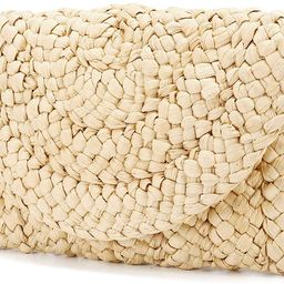 Straw Clutch Purse, JOSEKO Women Straw Envelope Bag Wallet Summer Beach Handbag Beach Clutch Purs... | Amazon (US)