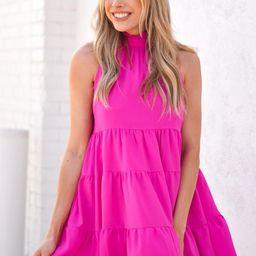 Twirl Around Dress - Magenta | The Impeccable Pig