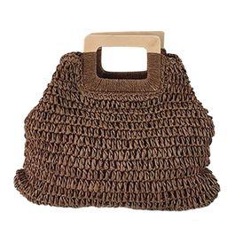 Fymall Women Handmade Straw Rattan Handbags Summer Beach Holiday Tote Bags   Walmart (US)