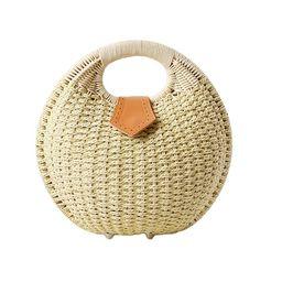 Sugeryy Woven Rattan Bag Straw Tote Bag Beach Handbags Women Summer Handmade Shell Bags;Woven Rat... | Walmart (US)