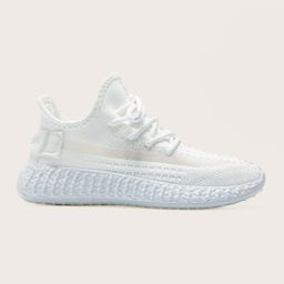 Lace Up Decor Knit Running Shoes | SHEIN