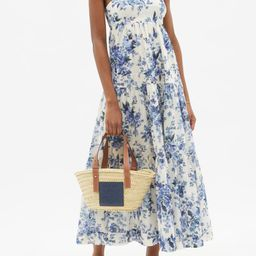 Aliane tiered floral-print cotton-voile dress   Matchesfashion (Global)