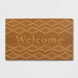 Etched Welcome Doormat Beige - Threshold™ | Target