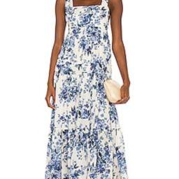 Zimmermann Aliane Tie Shoulder Dress in Blue Floral from Revolve.com   Revolve Clothing (Global)