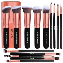 BS-MALL Makeup Brushes Premium Synthetic Foundation Powder Concealers Eye Shadows Makeup 14 Pcs B... | Amazon (US)