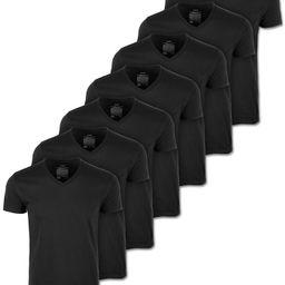 Men's 7-Pack Black V-Neck T-Shirts, Created for Macy's   Macys (US)