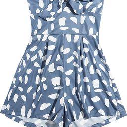 SweatyRocks Women's Off Shoulder Floral Print Playsuit Strapless Romper Short Jumpsuit | Amazon (US)