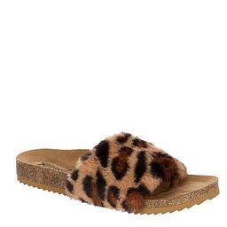 Xappeal Womens Teddie Footbed Slide Sandal - Leopard | Rack Room Shoes