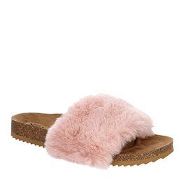 Xappeal Womens Teddie Footbed Slide Sandal - Blush | Rack Room Shoes