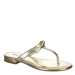 Xappeal Womens Luxe Flip Flop Sandal - Gold | Rack Room Shoes