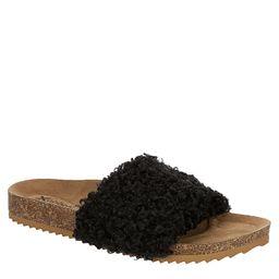 Xappeal Womens Teddie Footbed Slide Sandal - Black | Rack Room Shoes