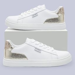 Metallic Panel Lace-up Front Skate Shoes | SHEIN