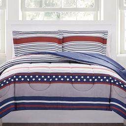Pem America Stars & Stripes 3-Pc. Reversible Full/Queen Comforter Set, Created for Macy's  & Revi...   Macys (US)