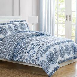 Pem America Blue Medallion Twin 3-Pc. Comforter Set & Reviews - Comforter Sets - Bed & Bath - Mac...   Macys (US)