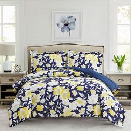 Mytex Aster Floral 3-Pc. Reversible Full/Queen Comforter Set, Created for Macy's & Reviews - Comf...   Macys (US)