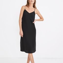 Silk Eva Side-Slit Slip Dress   Madewell