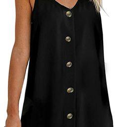 Chase Secret Women's V Neck Spaghetti Shoulder Strap Sleeveless Mini Dress | Amazon (US)