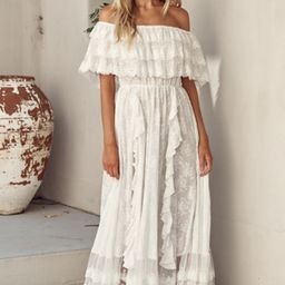 Snow White Off The Shoulder Maxi Dress | Salty Crush
