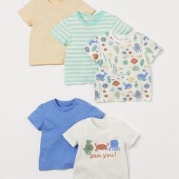 T-shirts in soft cotton jersey with a snap fastener on one shoulder (sizes 1½-4Y without snap fa... | H&M (US)