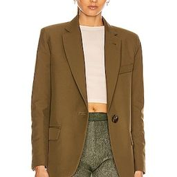 ATTICO Blazer Jacket in Green | FWRD