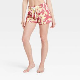 Women's Floral Print Simply Cool Pajama Shorts - Stars Above™ Rose | Target