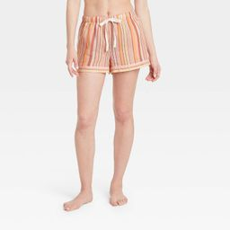 Women's Striped Simply Cool Pajama Shorts - Stars Above™ Pink | Target