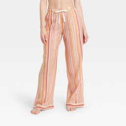 Women's Striped Simply Cool Wide Leg Pajama Pants - Stars Above™ Pink | Target
