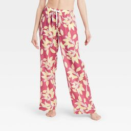 Women's Floral Print Simply Cool Wide Leg Pajama Pants - Stars Above™ Rose | Target
