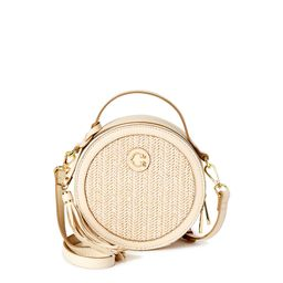 C. Wonder Julia Round Faux Straw Crossbody Bag with Texture | Walmart (US)