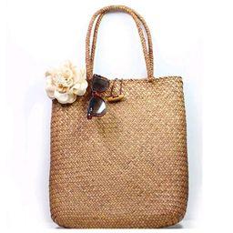 Women Vintage Straw Tote Handbag Woven Shoulder Shopping Satchel Bag Handbag | Walmart (US)