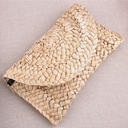 Fashion Handmade Rattan Woven Handbag Straw Knitted Messenger Bag Bohemian | Walmart (US)