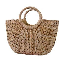 Moon Bag Fresh Yellow Grass Straw Braided Bag Rattan Bag Semi-Circle Handbag Straw Braided Bag Be... | Walmart (US)
