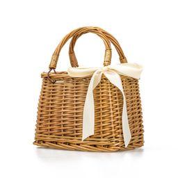 Women Woven Square Rattan Straw Bag Bohemia Style Handmade Handbag Beach Circle Tote Purse | Walmart (US)