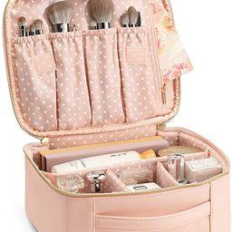 Vlando Travel Makeup Cosmetic Case Organizer Portable Storage Bag with Adjustable Dividers for Co...   Amazon (US)