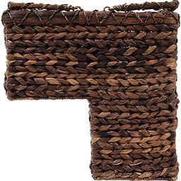 Creative Co-op DA2452 BacBac Leaf Woven Stair Basket with Handles, Natural | Amazon (US)