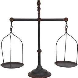 Creative Co-Op Decorative Distressed Vintage Metal Scale with Bird Finial, Bronze | Amazon (US)