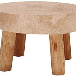 Yistao Mini Wooden Stool Display Stand, Decorative Round Wood Pedestal Stool Plant Pot Riser Mini... | Amazon (US)