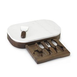 Marble Cheese Board Set with Knives   Williams-Sonoma