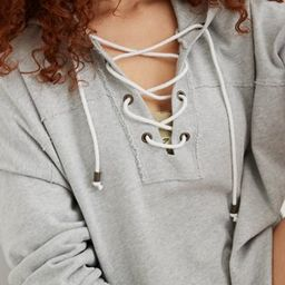 Aerie Lace Up Hoodie   American Eagle Outfitters (US & CA)