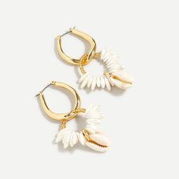 Cowrie shell and pearl hoop earrings   J.Crew US