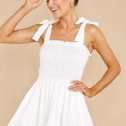 Wandering Heart White Dress | Red Dress