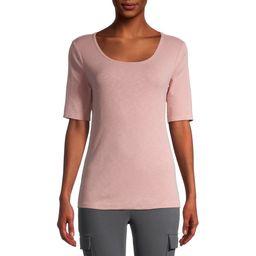 Time And Tru Women's Scoop Neck T-Shirt   Walmart (US)