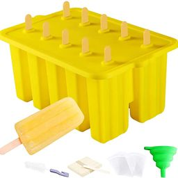 Popsicle Molds,Abozoy Ice Pop Molds BPA Free,Reusable 10 Pieces Popsicle Maker,Silicone Popsicle ... | Amazon (US)