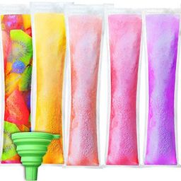 200 Pieces Disposable Ice Mold Bags Freeze Popsicle Bags Plastic Popsicle Pouches with Green Funn... | Amazon (US)