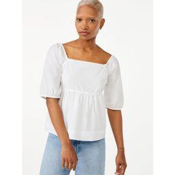 Free Assembly Women's Puff Sleeve Top   Walmart (US)