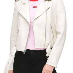 Faux Leather Fashion Belted Moto Jacket   Nordstrom